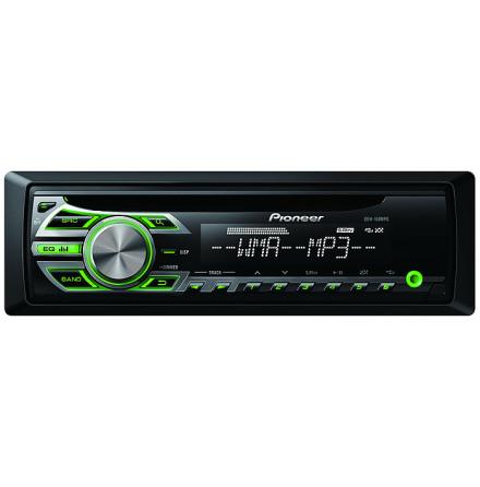 Pioneer 4x50W,MP3/WMA/WAV,grön knapbel
