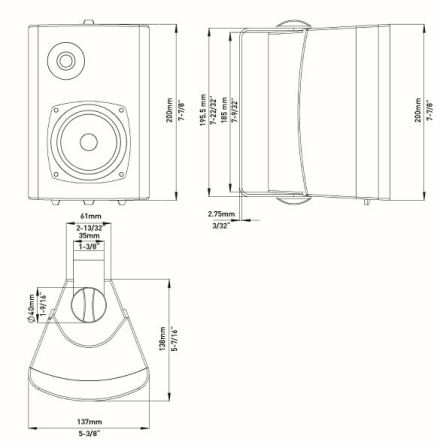 "Fusion 4"" External Box Speaker Pair"