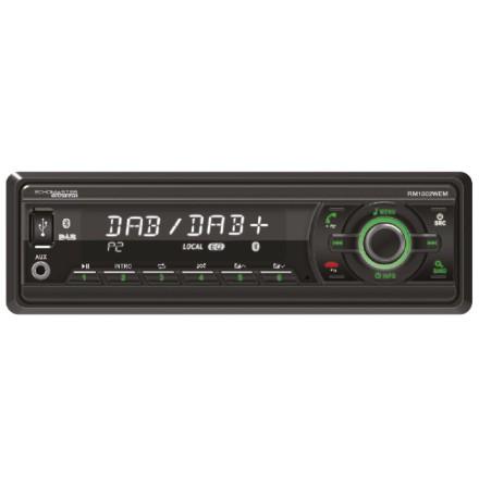 Maskinradio Heavy Duty utan CD med BT & DAB