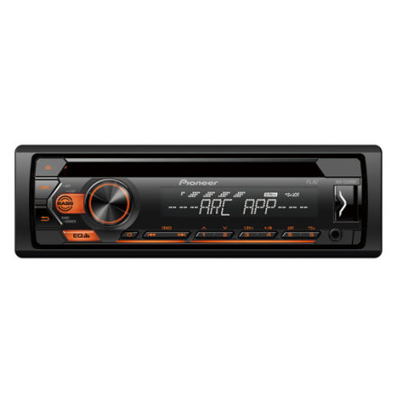 4x50W,MP3,AUX,USB, orange knappbelysning