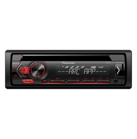 Pioneer 4x50W,MP3,AUX,USB,röd knapbelys