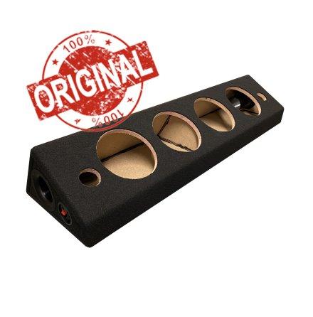 """Portad SVART Låda för 4 x6,5"""" middar och diskant"""