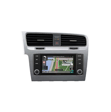 Pioneer Navigation VW Golf VII (Brushed Stainless Steel)