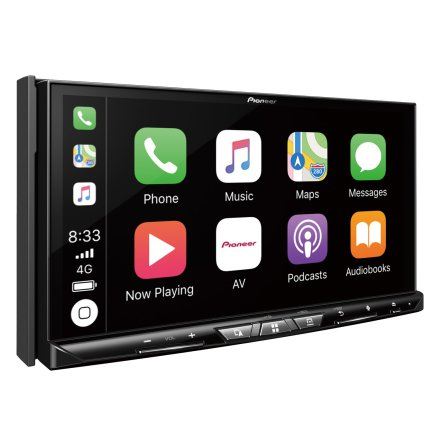 Pioneer 2DIN Navigation med kapacitiv skärm, HDMI