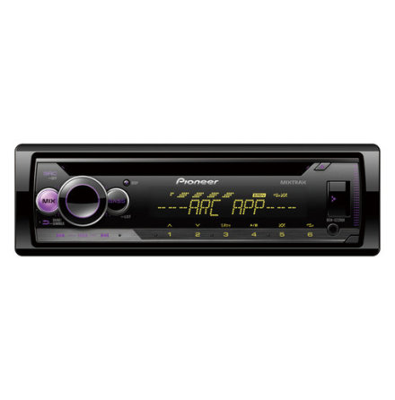 Pioneer 4x50W,MP3,AUX,USB,iPod,2 Lineout