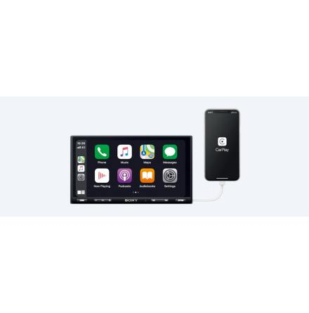 "Sony 7"" DAB-receiver med Weblink & CarPlay"