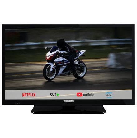 """Telefunken 22"""" LED 12/220 volt, Smart TV, Boxer T2 tuner"""