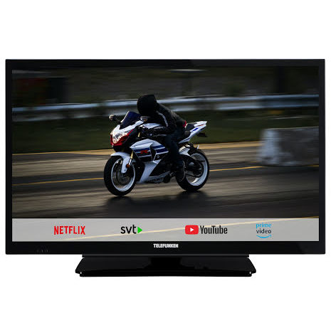 "Telefunken 22"" LED 12/220 volt, Smart TV, Boxer T2 tuner"