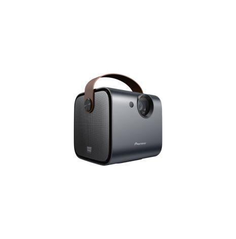 Portabel projektor m. inbyggd högtalare och laddbart batteri